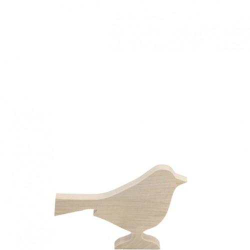 "Holz Vogel ""Laika"" Länge 14cm"
