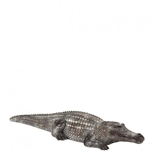 "Poly Krokodil ""Afrika"" Länge 46cm Höhe 13cm Breite 7cm"