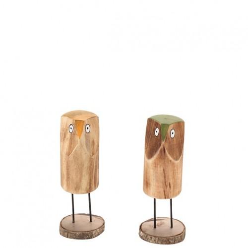 """Holz Eule """"Valli"""" Länge 13cm"""