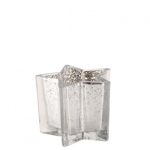 """Glas Teelicht Halter """"Bellatrix"""" Durchmesser 13cm"""