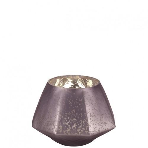"""Glas Teelichthalter """"Diamond"""" Durchmesser 12"""